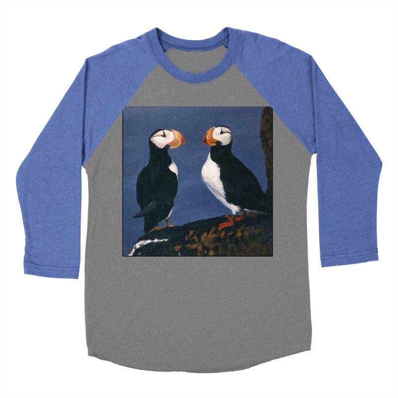 Two's Company Men's Baseball Triblend Longsleeve T-Shirt by Ferine Fire