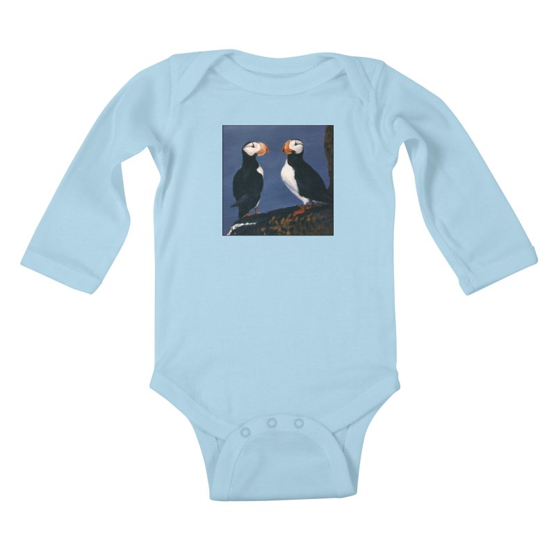 Two's Company Kids Baby Longsleeve Bodysuit by Ferine Fire