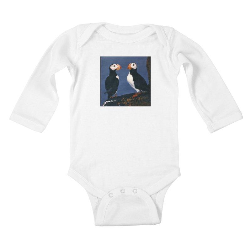 Two's Company Kids Baby Longsleeve Bodysuit by Ferine Fire