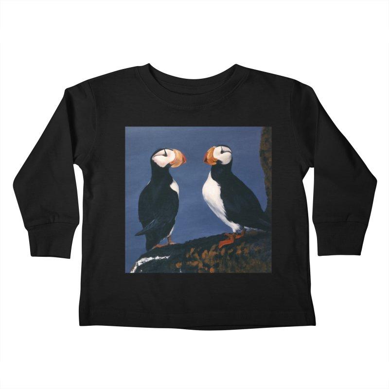Two's Company Kids Toddler Longsleeve T-Shirt by Ferine Fire