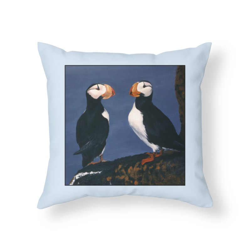 Two's Company Home Throw Pillow by Ferine Fire