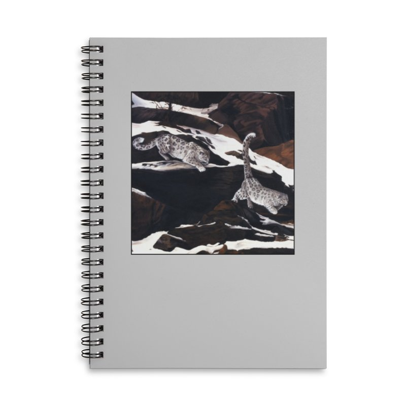Cat Tails Accessories Lined Spiral Notebook by Ferine Fire