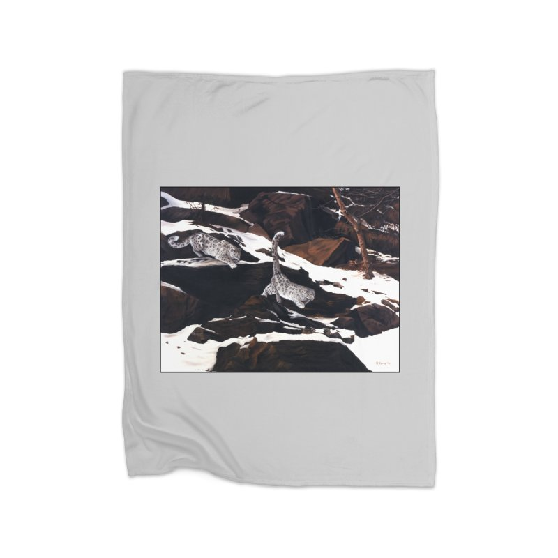Cat Tails Home Fleece Blanket Blanket by Ferine Fire