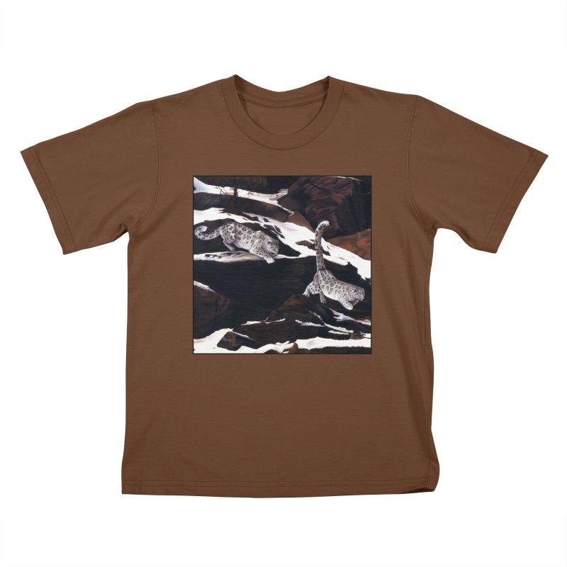 Cat Tails Kids T-Shirt by Ferine Fire