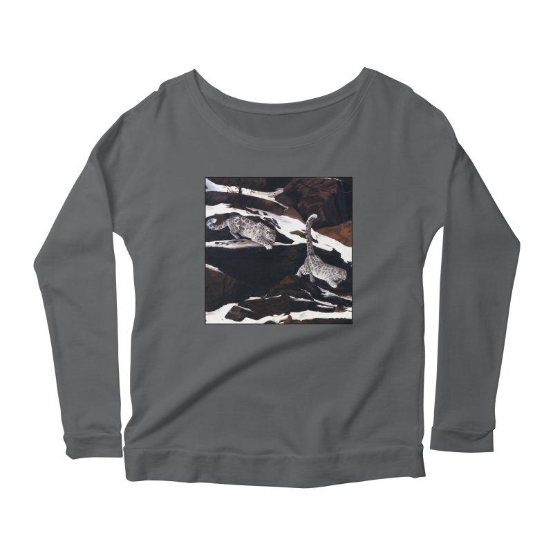 Cat Tails Women's Scoop Neck Longsleeve T-Shirt by Ferine Fire
