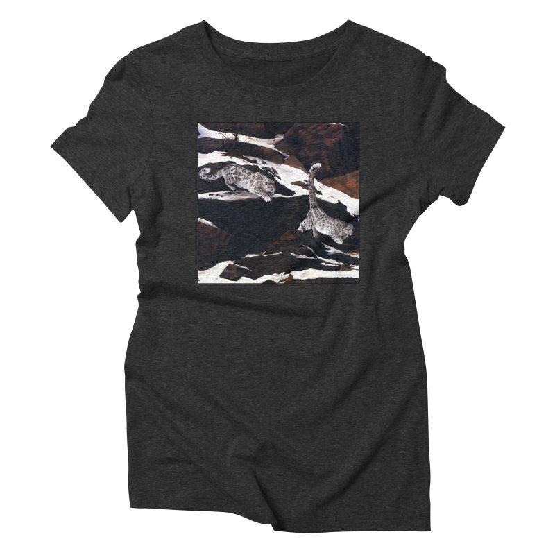 Cat Tails Women's Triblend T-Shirt by Ferine Fire