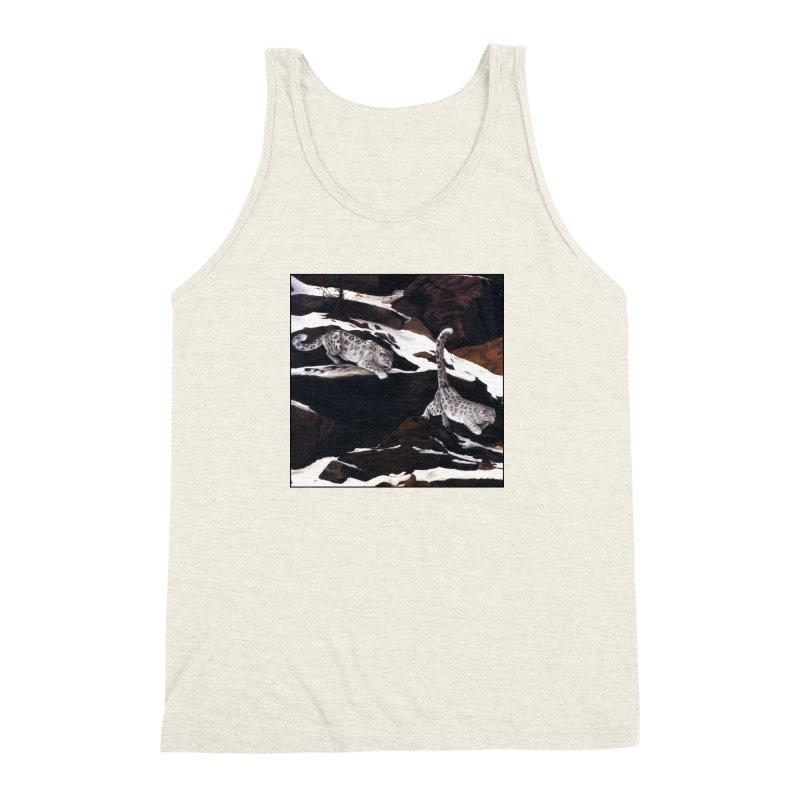 Cat Tails Men's Triblend Tank by Ferine Fire
