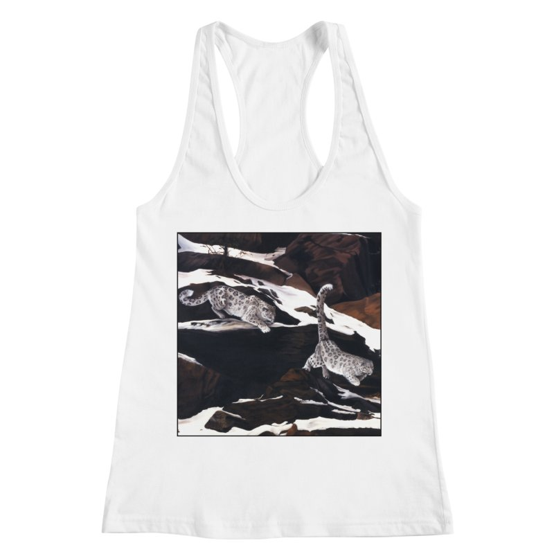 Cat Tails Women's Racerback Tank by Ferine Fire