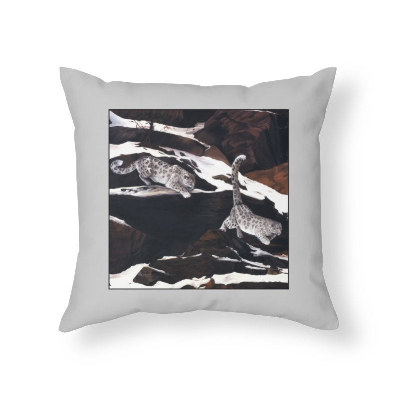 Cat Tails Home Throw Pillow by Ferine Fire