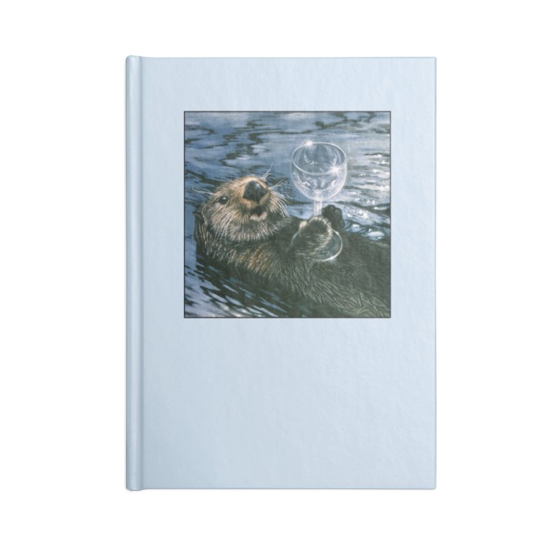 Ya Otter Relax Accessories Lined Journal Notebook by Ferine Fire