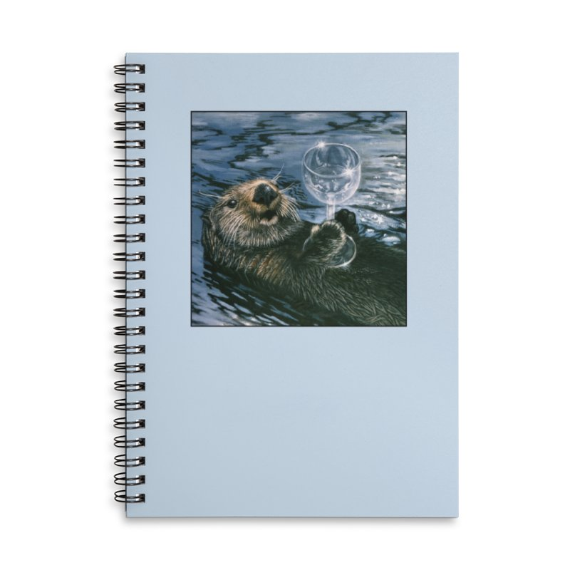 Ya Otter Relax Accessories Lined Spiral Notebook by Ferine Fire