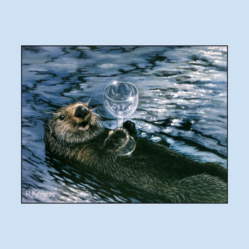 Ya Otter Relax Men's T-Shirt by Ferine Fire
