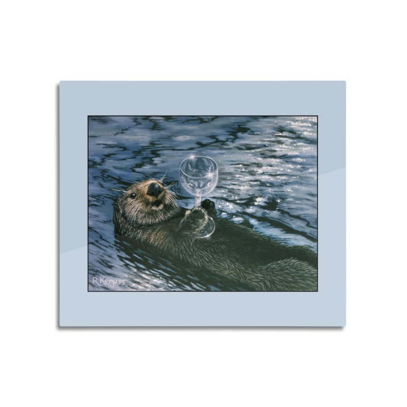 Ya Otter Relax Home Mounted Aluminum Print by Ferine Fire