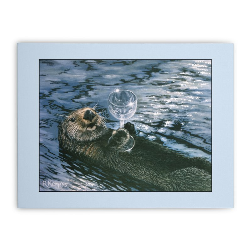 Ya Otter Relax Home Stretched Canvas by Ferine Fire
