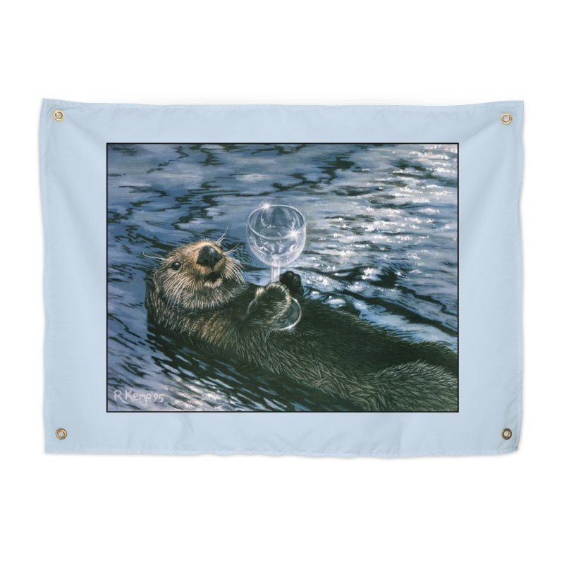 Ya Otter Relax Home Tapestry by Ferine Fire