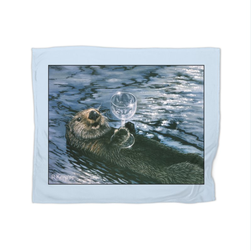 Ya Otter Relax Home Fleece Blanket Blanket by Ferine Fire