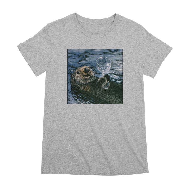 Ya Otter Relax Women's Premium T-Shirt by Ferine Fire