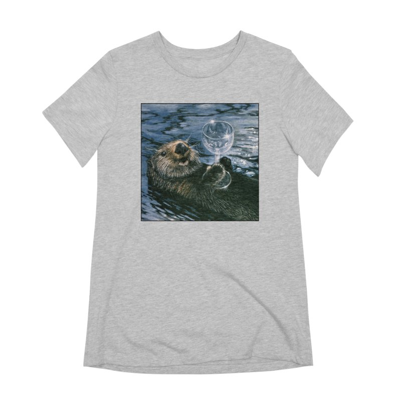 Ya Otter Relax Women's Extra Soft T-Shirt by Ferine Fire