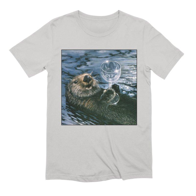 Ya Otter Relax Men's Extra Soft T-Shirt by Ferine Fire
