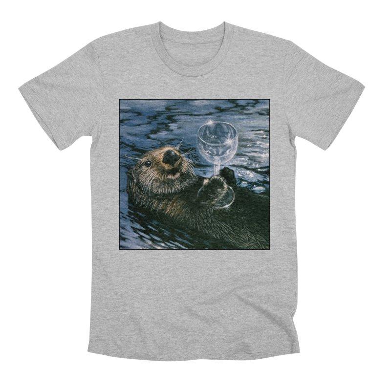Ya Otter Relax Men's Premium T-Shirt by Ferine Fire