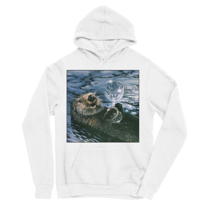 Ya Otter Relax Men's Sponge Fleece Pullover Hoody by Ferine Fire