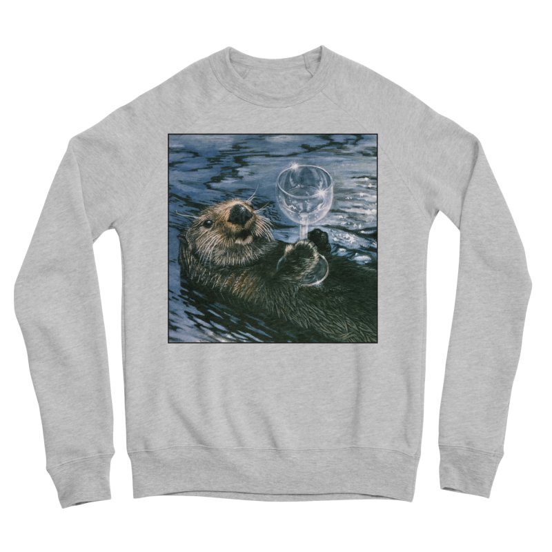 Ya Otter Relax Women's Sponge Fleece Sweatshirt by Ferine Fire