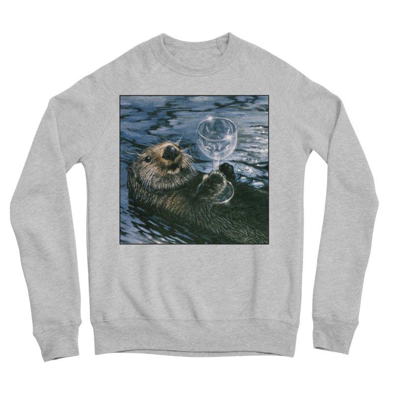 Ya Otter Relax Men's Sponge Fleece Sweatshirt by Ferine Fire