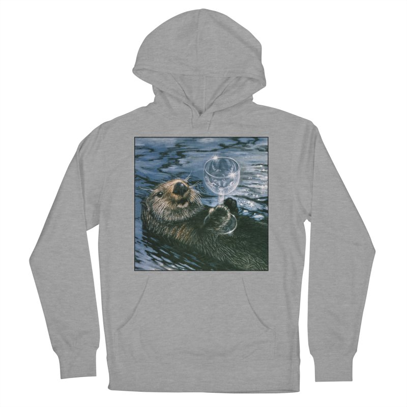 Ya Otter Relax Women's French Terry Pullover Hoody by Ferine Fire