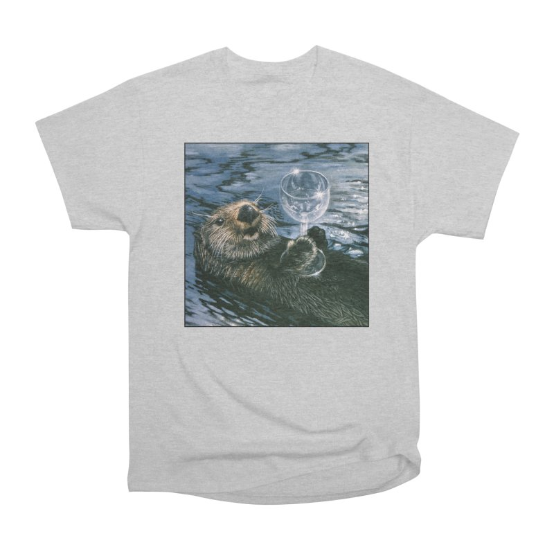 Ya Otter Relax Men's Heavyweight T-Shirt by Ferine Fire