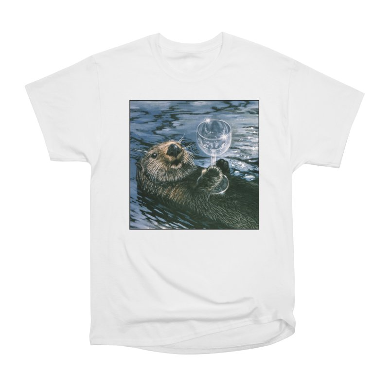 Ya Otter Relax Women's Heavyweight Unisex T-Shirt by Ferine Fire