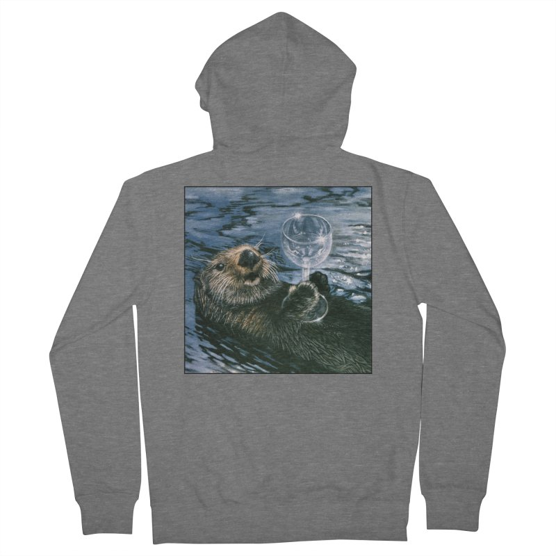 Ya Otter Relax Men's French Terry Zip-Up Hoody by Ferine Fire