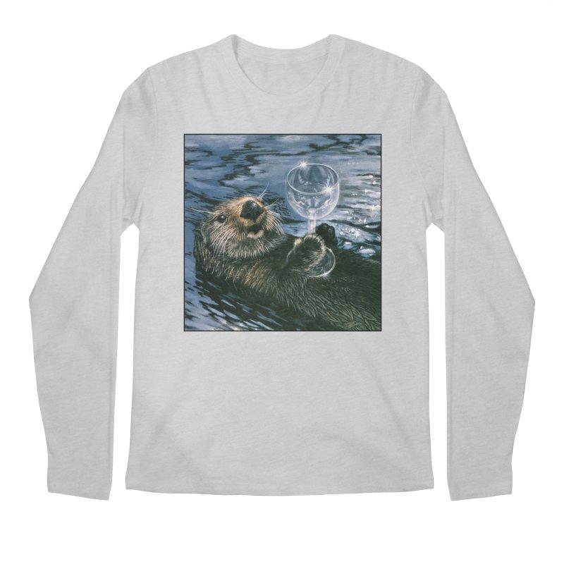 Ya Otter Relax Men's Regular Longsleeve T-Shirt by Ferine Fire