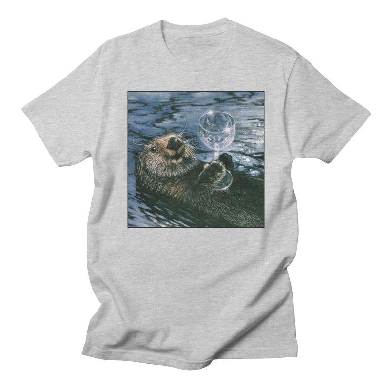 Ya Otter Relax Men's Regular T-Shirt by Ferine Fire