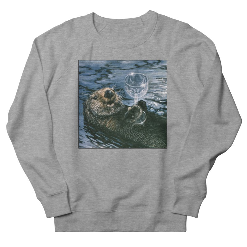Ya Otter Relax Women's French Terry Sweatshirt by Ferine Fire