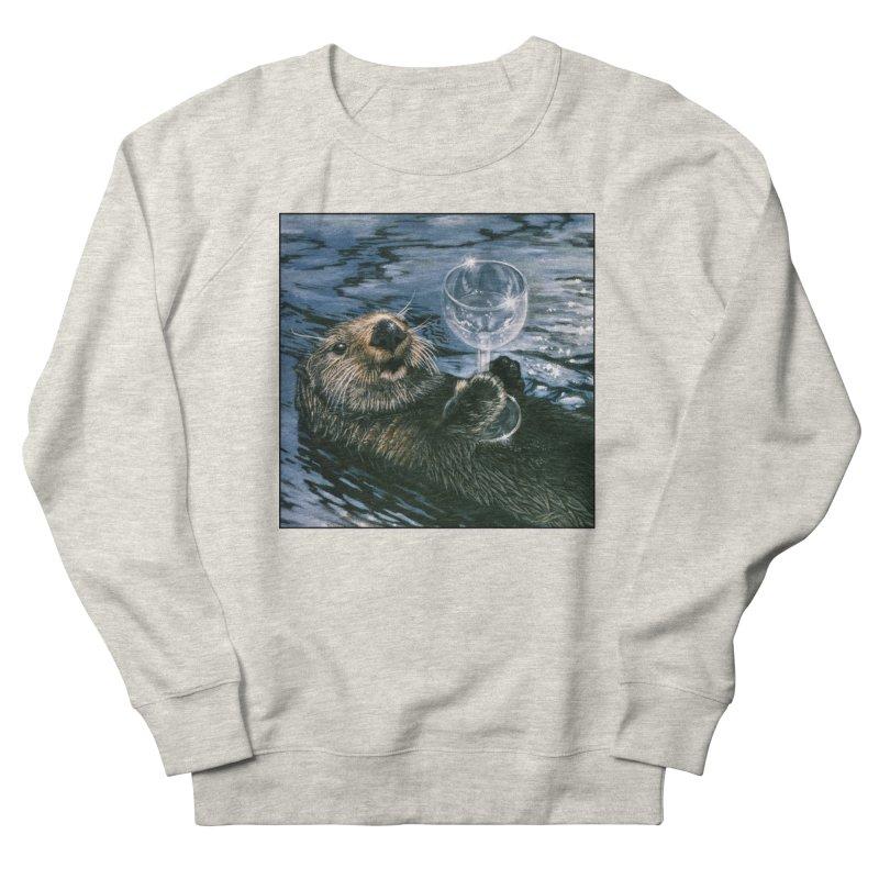 Ya Otter Relax Men's French Terry Sweatshirt by Ferine Fire