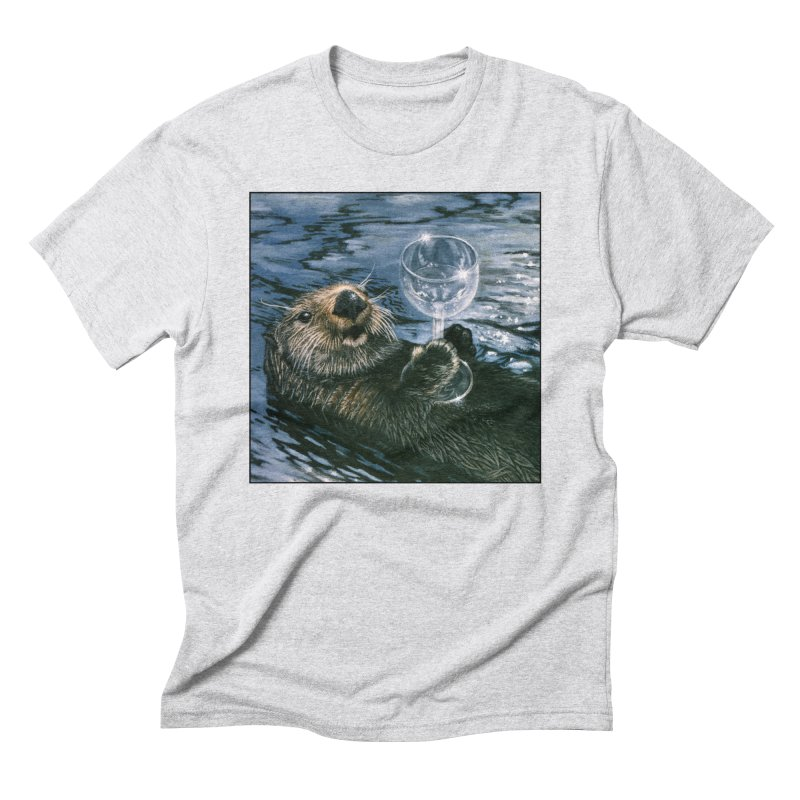 Ya Otter Relax Men's Triblend T-Shirt by Ferine Fire