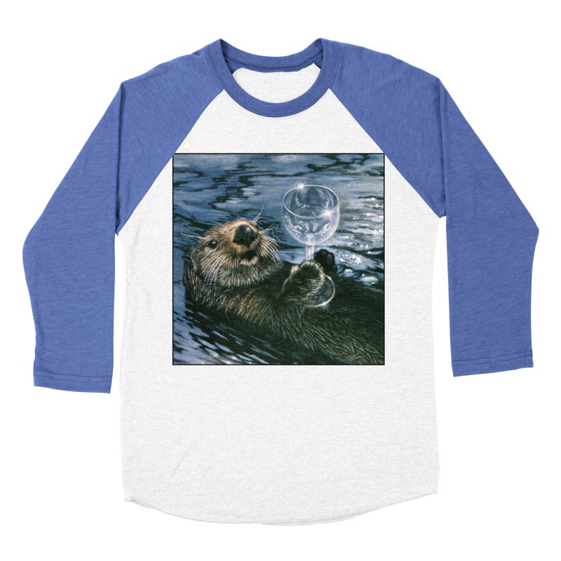 Ya Otter Relax Men's Baseball Triblend Longsleeve T-Shirt by Ferine Fire