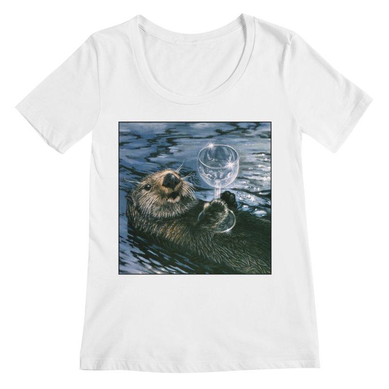 Ya Otter Relax Women's Regular Scoop Neck by Ferine Fire