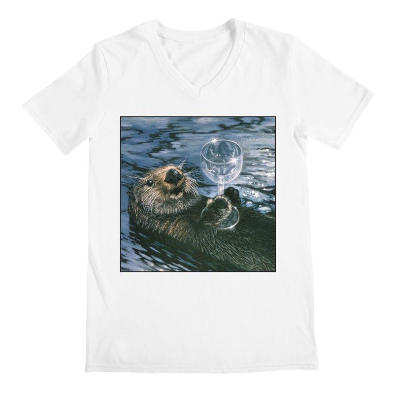 Ya Otter Relax Men's Regular V-Neck by Ferine Fire