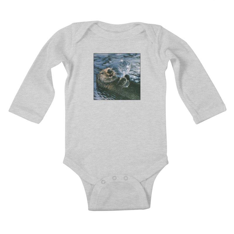 Ya Otter Relax Kids Baby Longsleeve Bodysuit by Ferine Fire