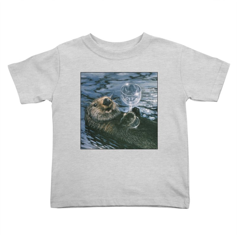 Ya Otter Relax Kids Toddler T-Shirt by Ferine Fire