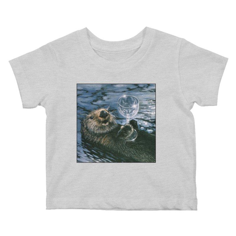 Ya Otter Relax Kids Baby T-Shirt by Ferine Fire