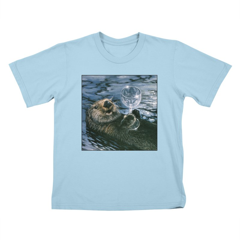 Ya Otter Relax Kids T-Shirt by Ferine Fire