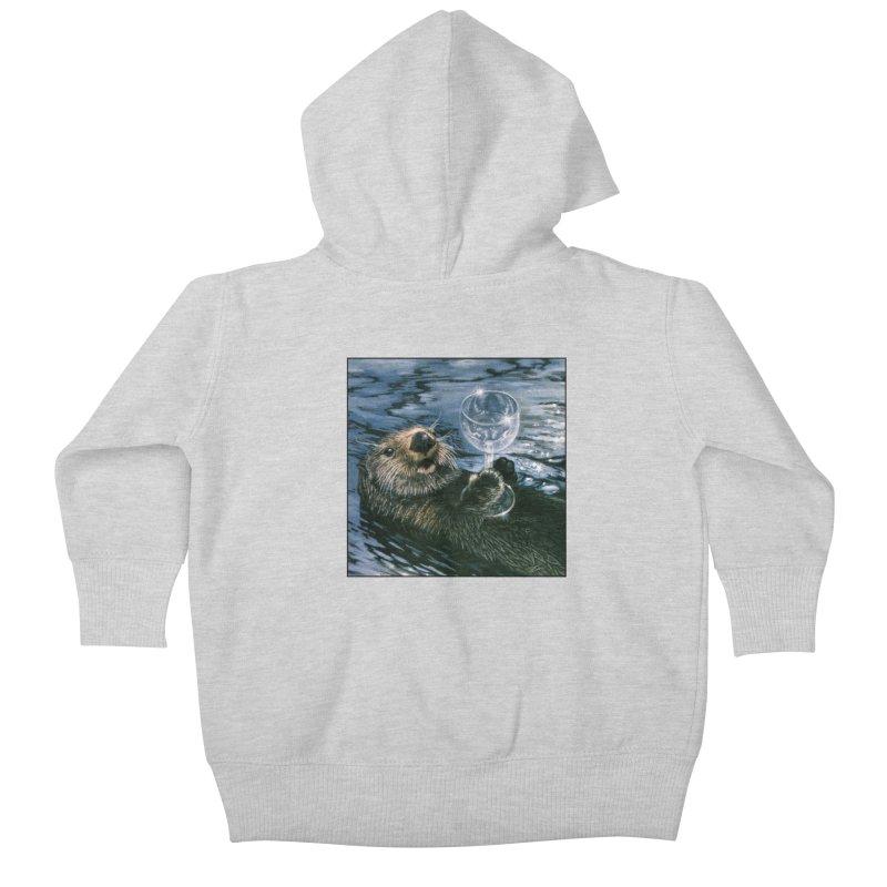 Ya Otter Relax Kids Baby Zip-Up Hoody by Ferine Fire