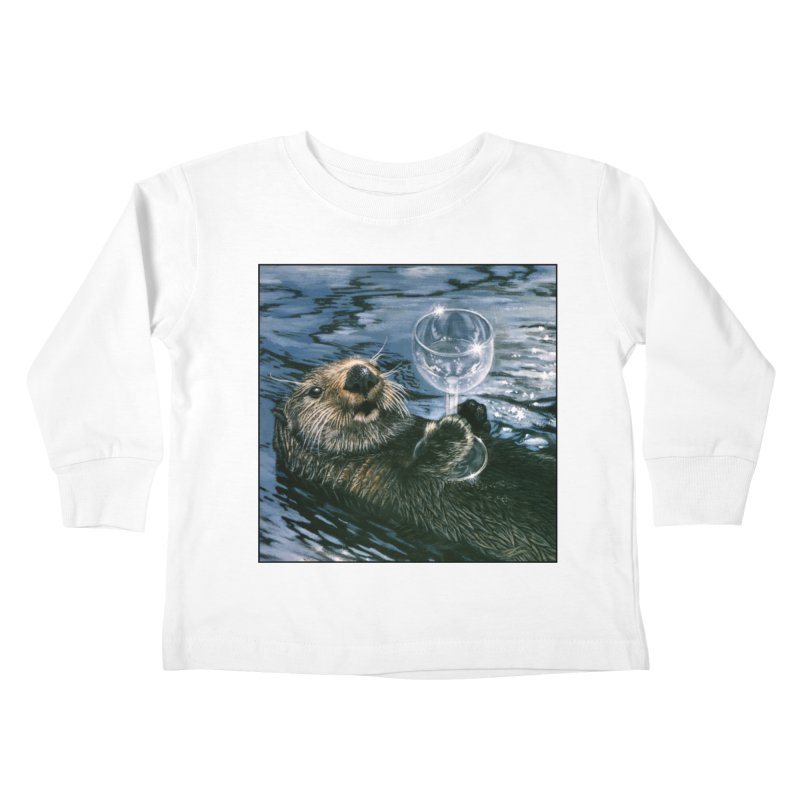 Ya Otter Relax Kids Toddler Longsleeve T-Shirt by Ferine Fire