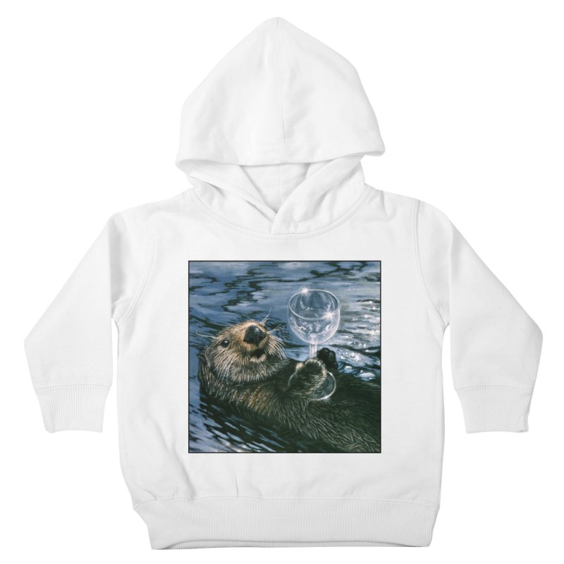 Ya Otter Relax Kids Toddler Pullover Hoody by Ferine Fire