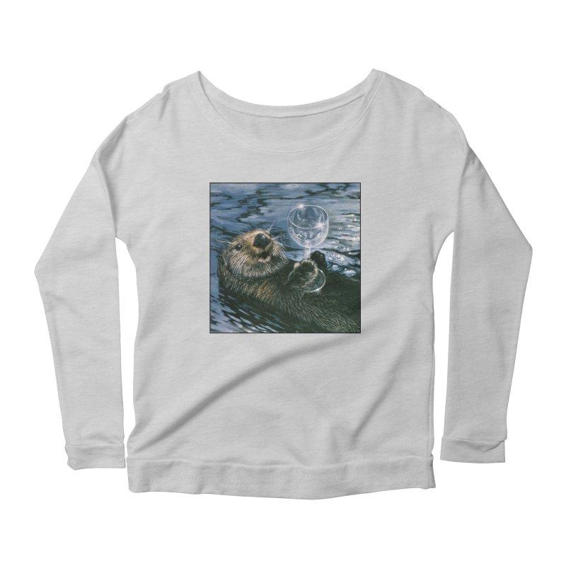 Ya Otter Relax Women's Scoop Neck Longsleeve T-Shirt by Ferine Fire
