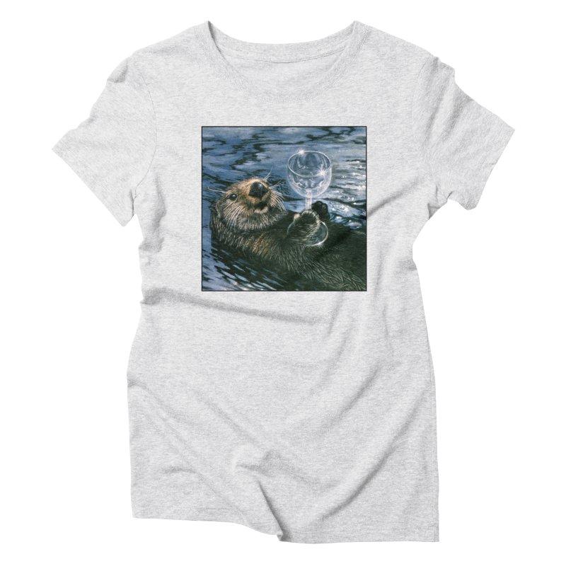 Ya Otter Relax Women's Triblend T-Shirt by Ferine Fire