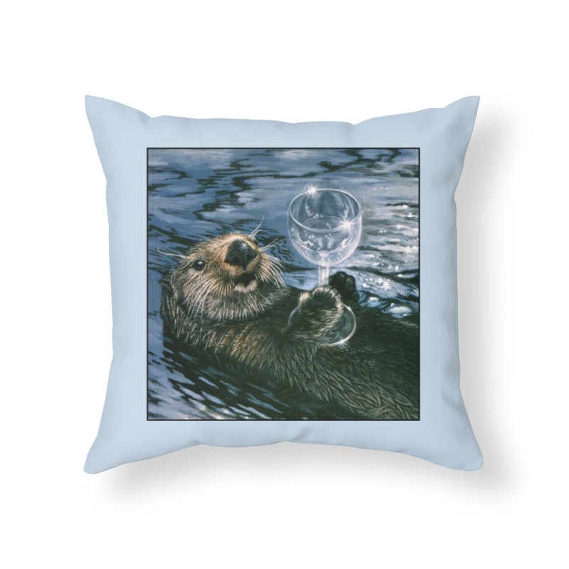 Ya Otter Relax Home Throw Pillow by Ferine Fire