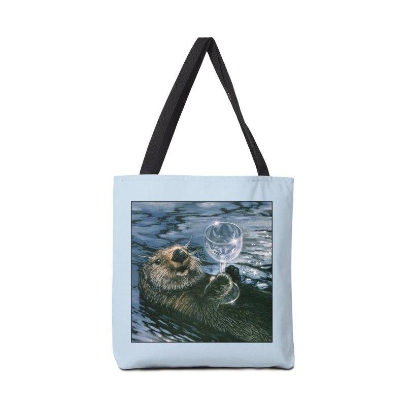Ya Otter Relax Accessories Tote Bag Bag by Ferine Fire